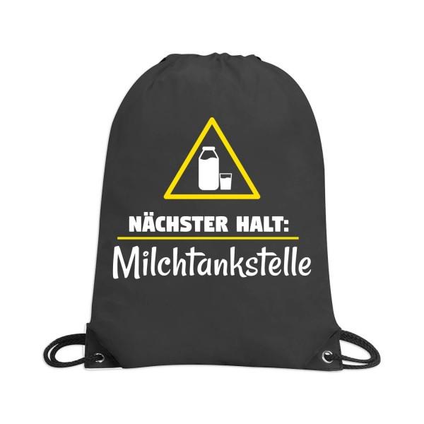 """Rucksacktasche """"Nächster Halt Milchtankstelle"""""""